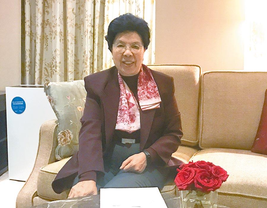 大陸全國政協常委陳馮富珍。(中新社資料照片)