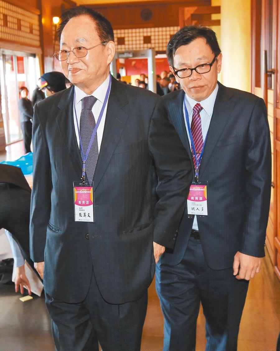 海基會副董事長姚人多(右)。(本報系資料照片)