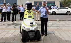 大陸邯鄲市首次出現機器人交警