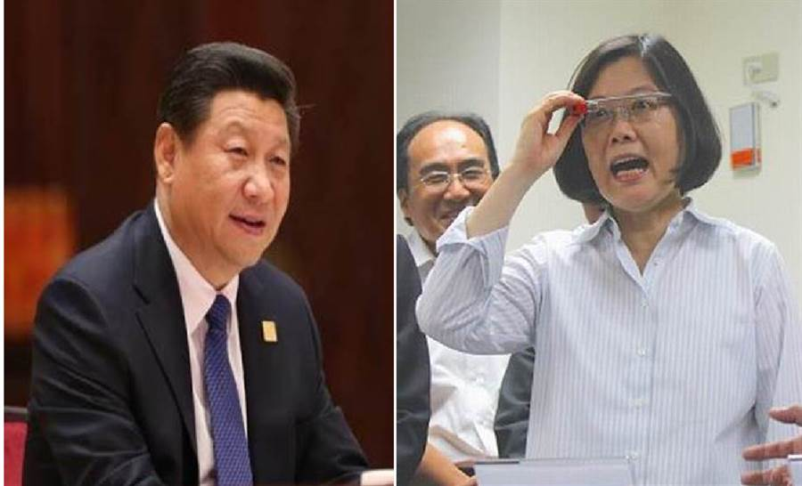 大陸國家主席習近平(左)、總統蔡英文(右)。(圖/合成圖,本報資料照)