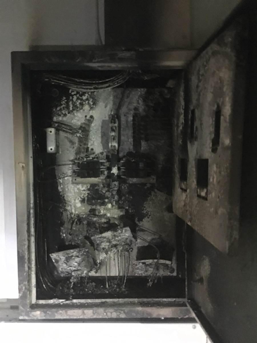 故宮南院12日凌晨傳出機房火警,3樓機房的消防照明設備配電盤為事故點。(呂妍庭翻攝)