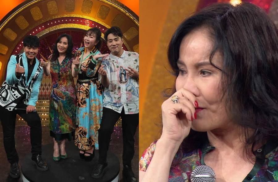 李亞萍唱到《家後》突泣不成聲。(圖/年代提供)