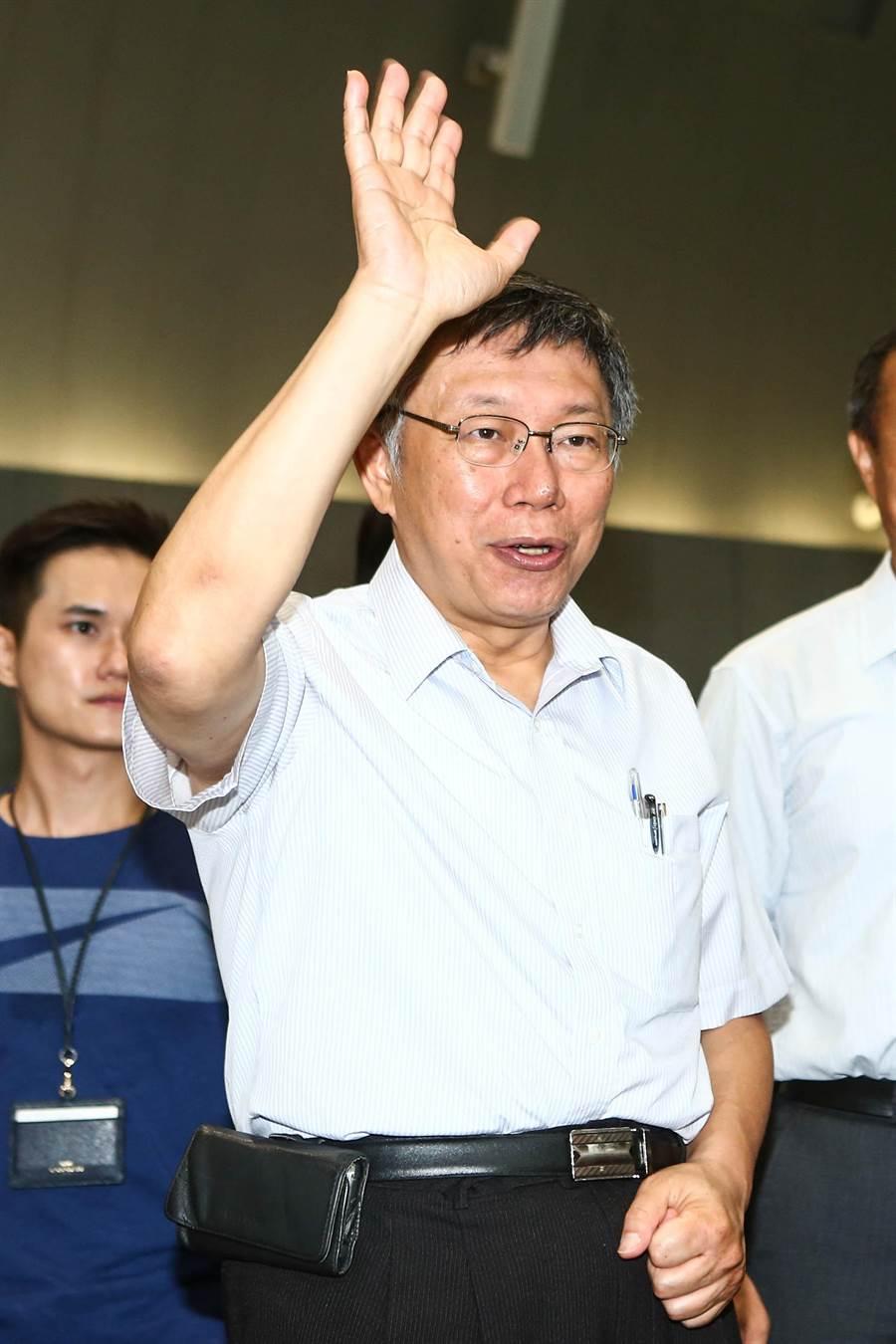 台北市長柯文哲上午表示,各政黨都有養網軍,唯獨民眾黨沒有,所以才可以大聲講別人。(中時資料庫)