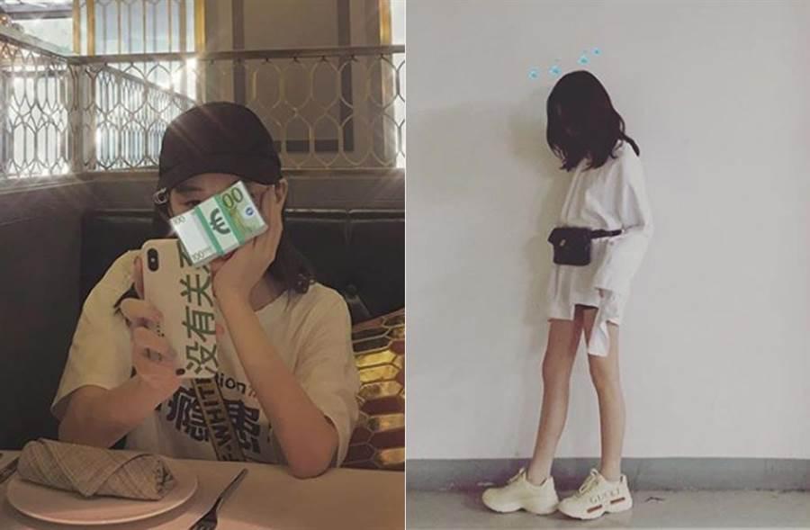 王菲女兒李嫣自封「李十萬」,認了是因豪奢傳聞而自取的。(取材自李嫣IG)