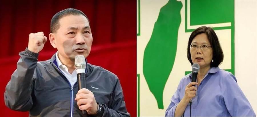 新北市長侯友宜(左)、總統蔡英文(右)。(圖/合成圖,本報資料照)