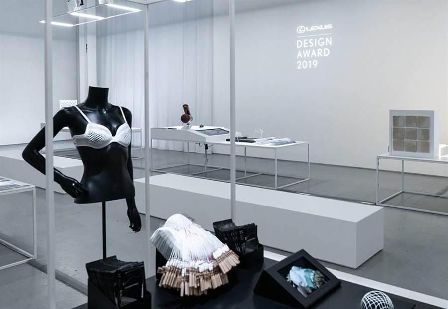 圖為2019 得獎作品:乳癌倖存者3D客製化蕾絲胸罩 (Algorithmic Lace)。(LEXUS提供)