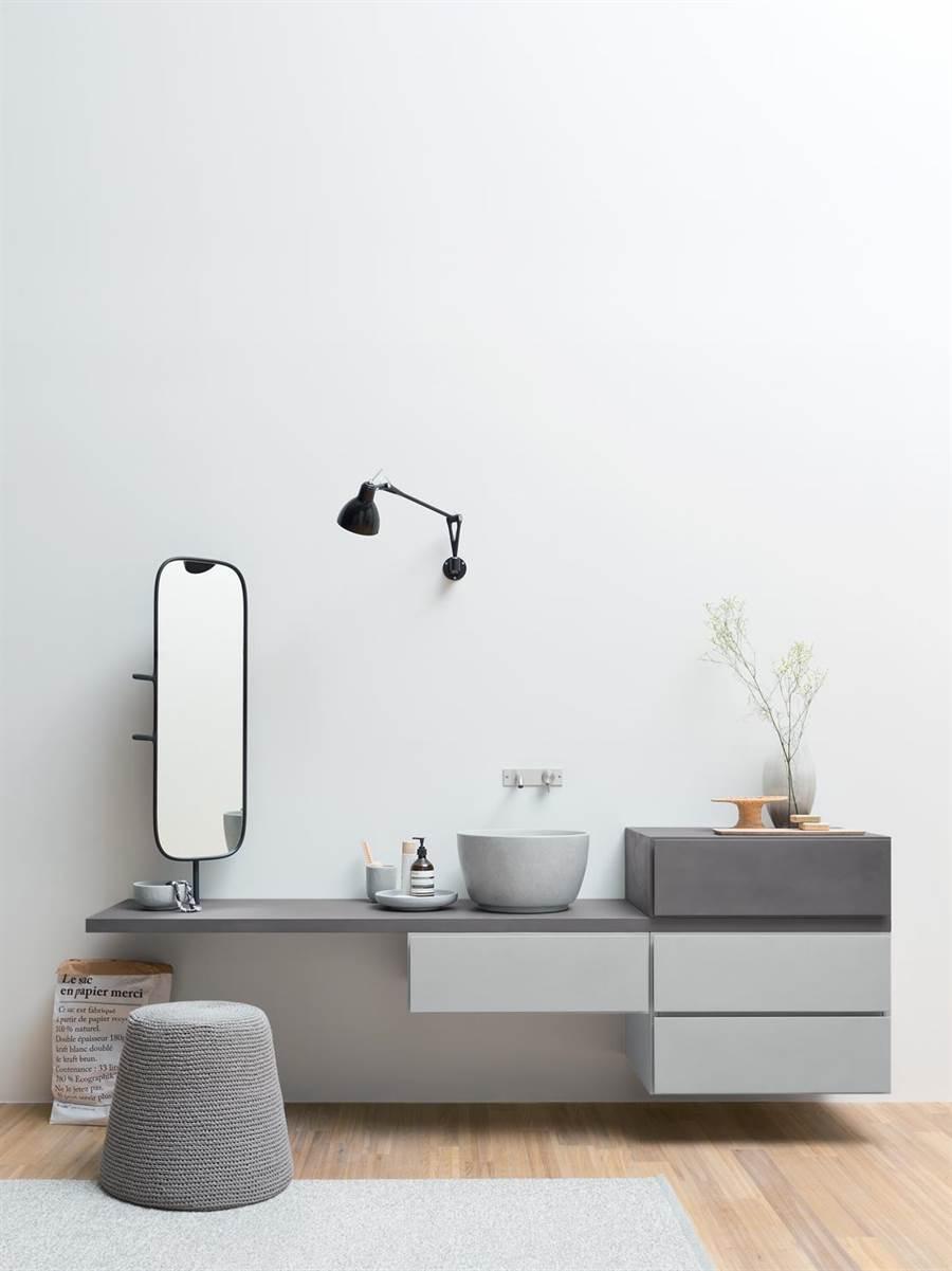 義大利人造石衛浴品牌REXA,客製化服務將創新科技融入設計。(麗舍提供)