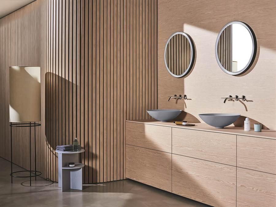 Alape將衛浴空間融入自然色調。(楠弘廚衛提供)