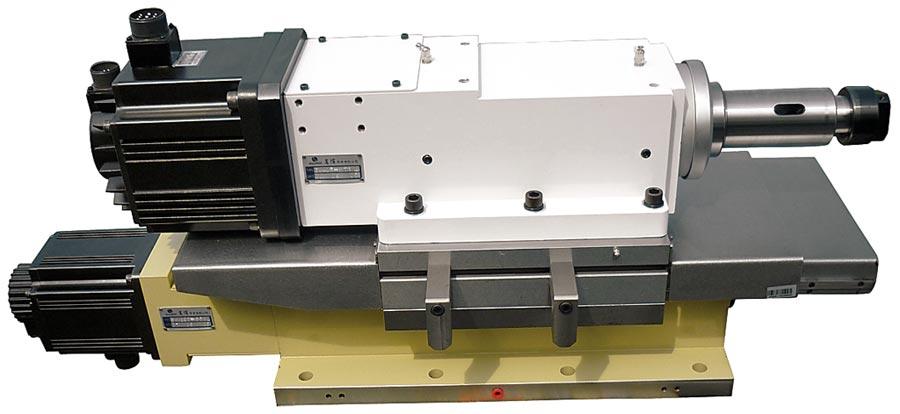 嵩偉SW-40F搪銑主軸頭。圖╱嵩偉實業提供