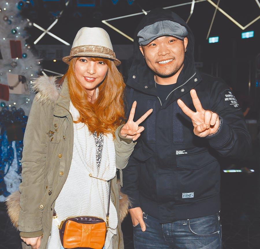 李玖哲(右)和老婆相馬茜結婚約5年。(資料照片)