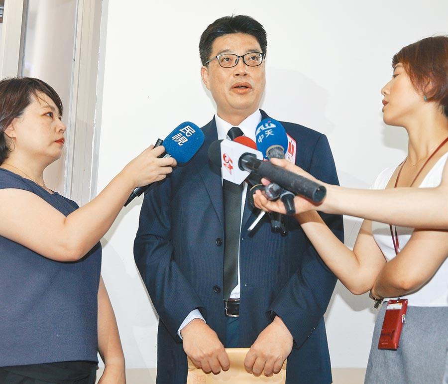 陸委會副主委邱垂正(中)。(本報系資料照片)