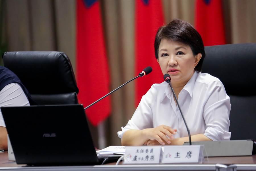 台中市長盧秀燕說,明白許多市民朋友關心停班停課資訊,台中尚未達到標準,各地區狀況會持續觀察,回歸專業判斷。(盧金足攝)