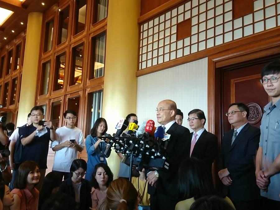 行政院長蘇貞昌出席「全國清潔隊長業務交流會議」。(廖德修攝)