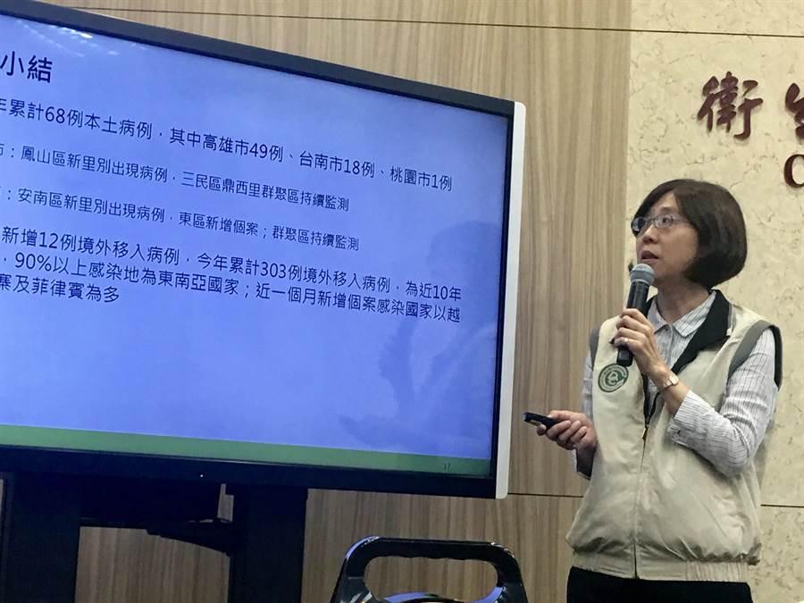 疾管署疫情中心主任劉定萍表示,未來一周的腸病毒疫情,預計以克沙奇A群為主,但腸病毒71型仍會持續活動。(林周義攝)