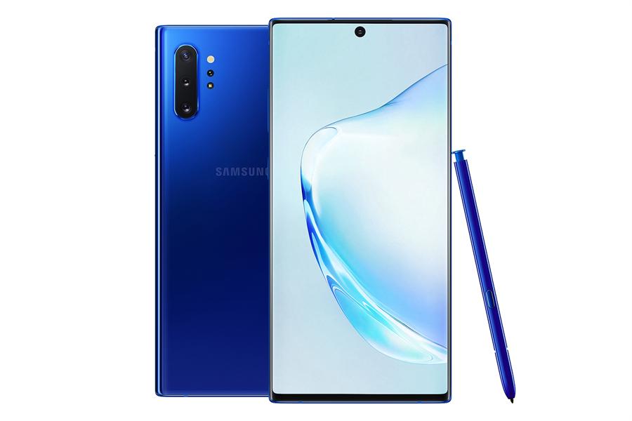 Galaxy Note10+星環藍。(圖/三星提供)