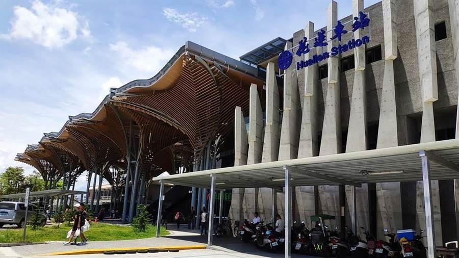 交通部鐵道局今(13)日宣佈,耗資9億元、民眾期盼的花蓮車站第二期工程即將完工。(交通部鐵道局提供)