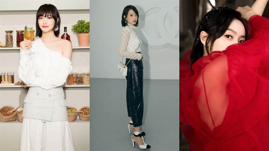 宋茜不僅在戲劇圈表現亮眼,也是時尚圈的寵兒之一。(圖/翻攝自微博@宋茜)