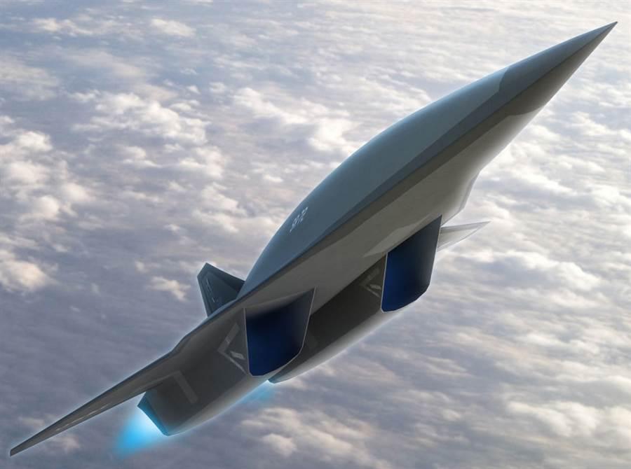 計畫中的SR-72高超音速偵察機,最關鍵的引擎終於有譜,超燃衝壓引擎推力達到1萬3千磅。(圖/洛馬公司)