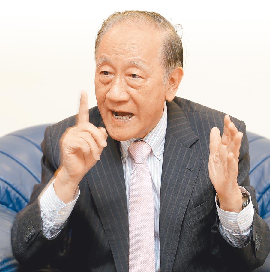 新黨主席郁慕明12日在本報專訪中,針對目前國內與兩岸的情勢,與總統大選群雄並起的現象發表他的看法。(季志翔攝)
