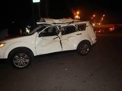 桃園重機、小客車碰撞 1死2傷
