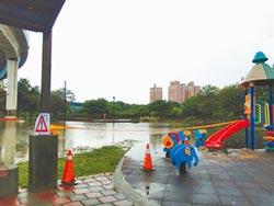 雨彈狂炸彰化 水漫公園急拉封鎖線