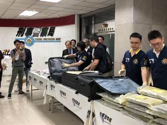 暑假跨境運毒猖獗  刑事局查獲82.5公斤大麻海洛因