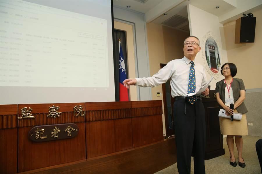 監察院祕書長傅孟融(左)。(黃世麒攝)