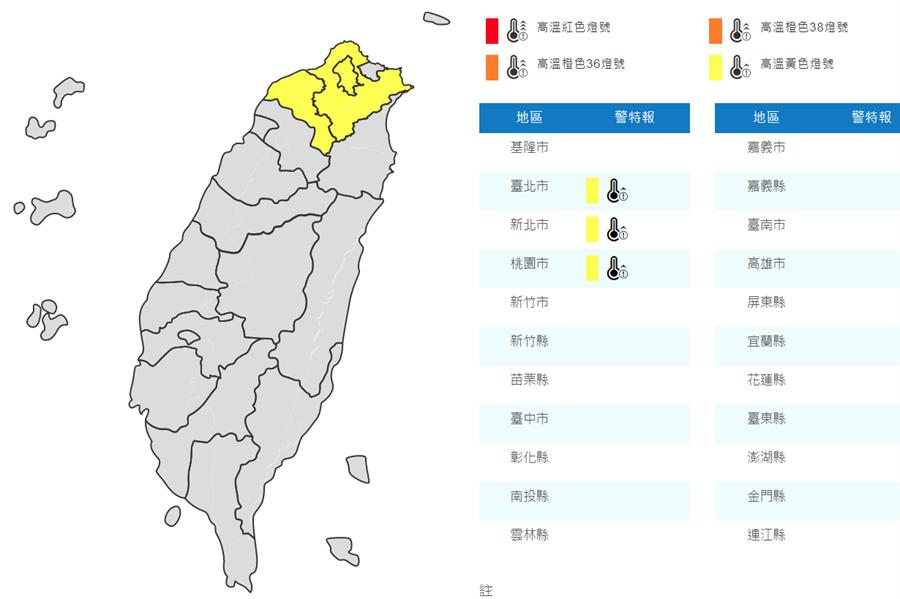 圖為台北高溫。(氣象局)
