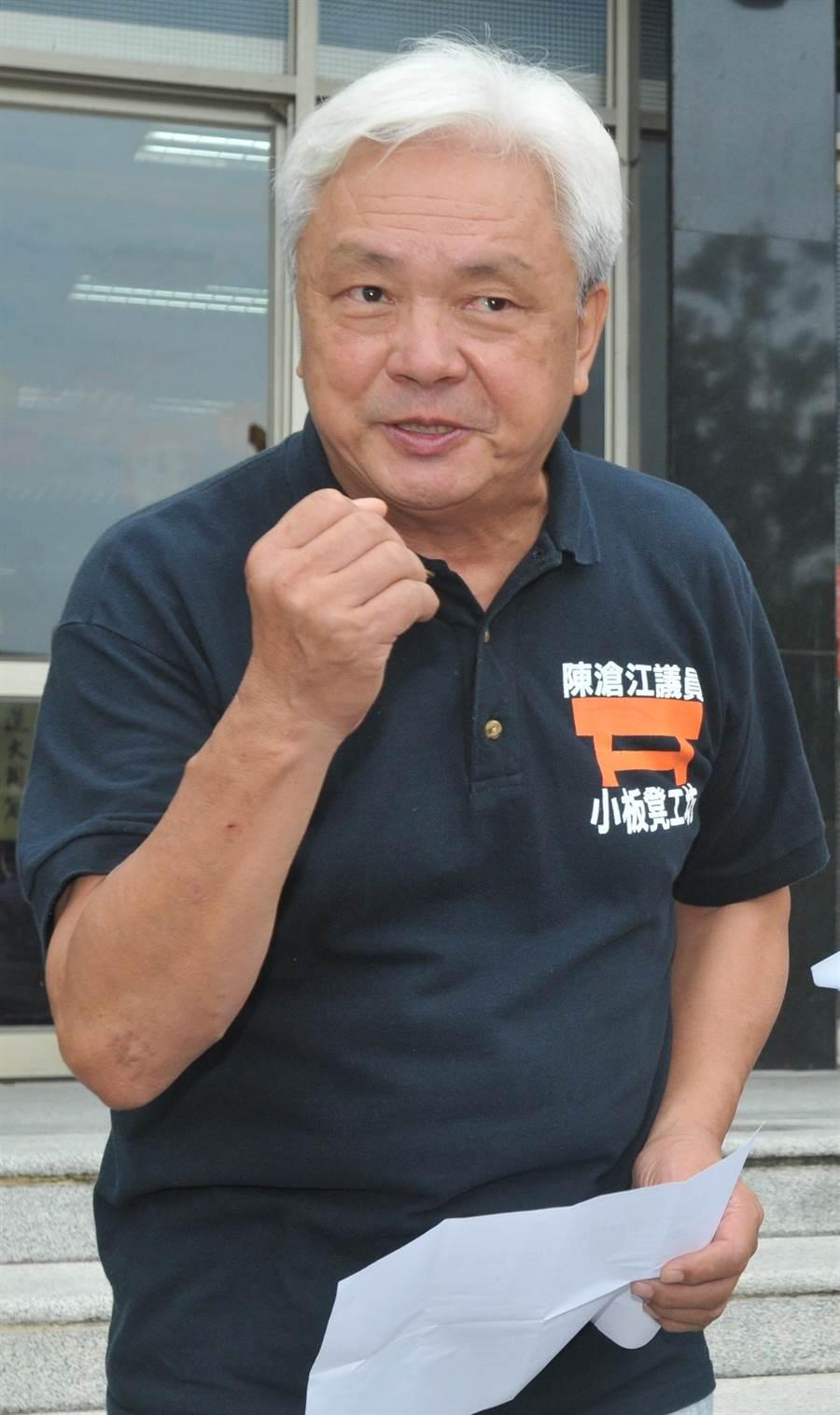 陳滄江是否再戰立委,將是明年大選的重大變數之一。(李金生攝)