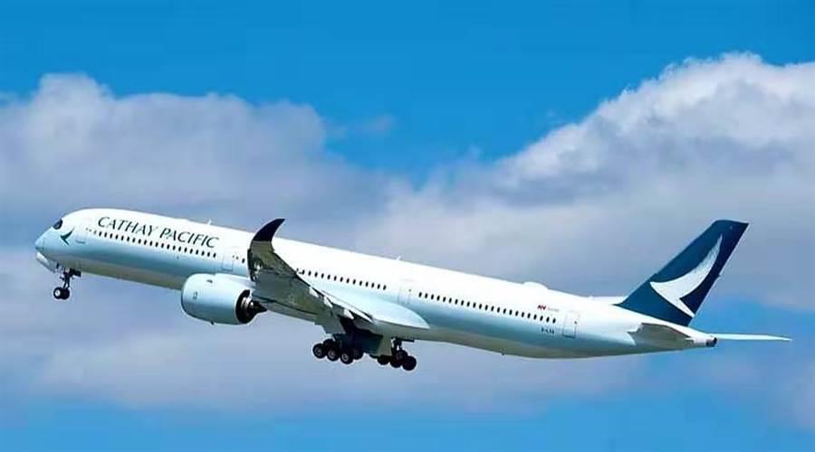 香港機場今日再取消130班航班。圖為國泰航空班機。(圖片取自國泰航空IG)