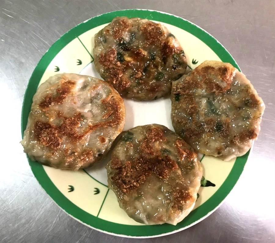 埔里點心王的特色點心,也是地方最有名的農產特色小吃美人腿煎餅。(楊樹煌攝)