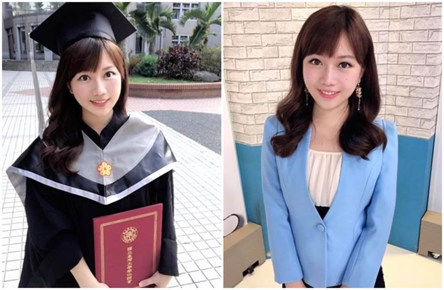 美女主播蔡尚樺完成台大商學研究所學業。(取自蔡尚樺臉書)