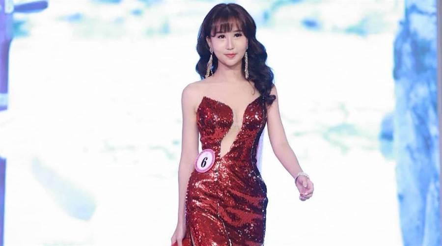 李昱欣日前拿下全球城市小姐上海賽區亞軍。 中華全球城市選拔大會提供