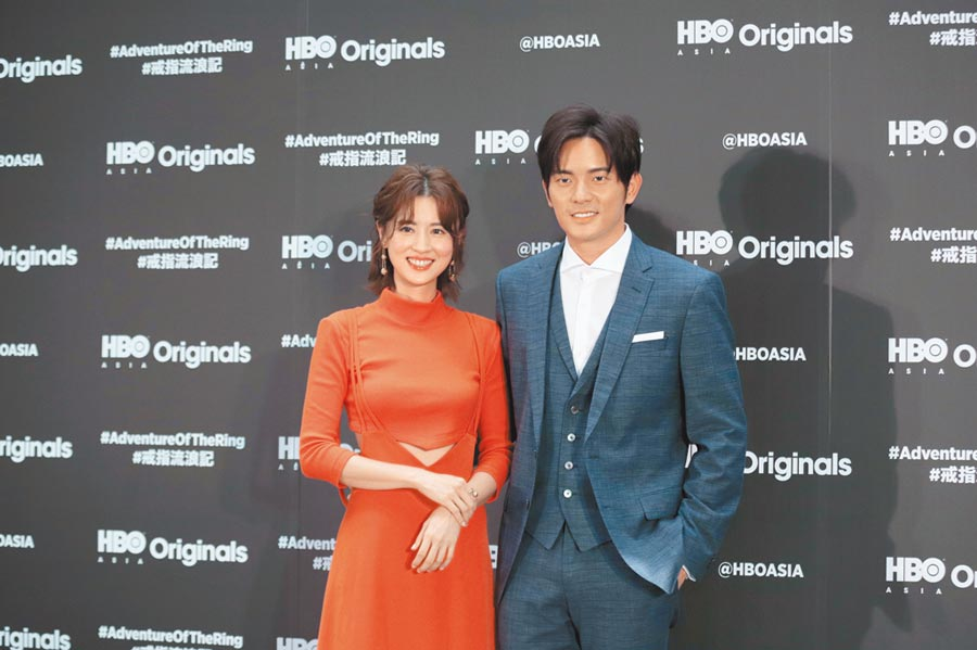 宥勝(右)昨和林予晞出席新戲記者會。