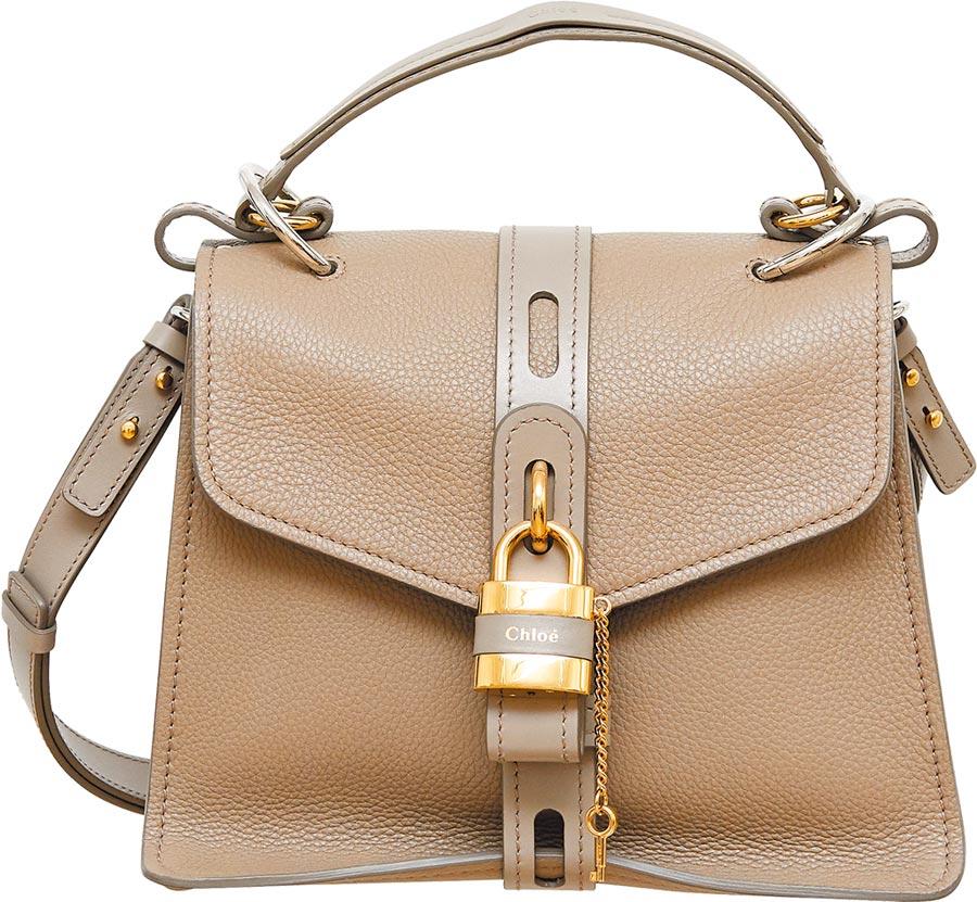 Chloe Aby灰色小型鎖頭包,6萬9700元。(Chloe提供)