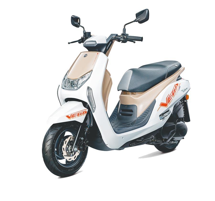 SYM新推VEGA 125 ABS、VEGA 125 CBS,汰舊換新價分別為6萬5200元、6萬200元起(不含牌險)。(SYM提供)