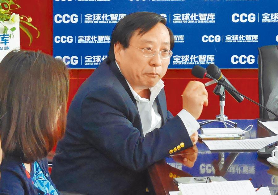 曾任鄧小平翻譯的大陸全球化智庫(CCG)副主任高志凱。(記者陳君碩攝)