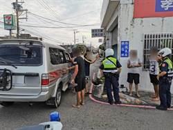 警攔超載車 逮到情侶檔通緝犯