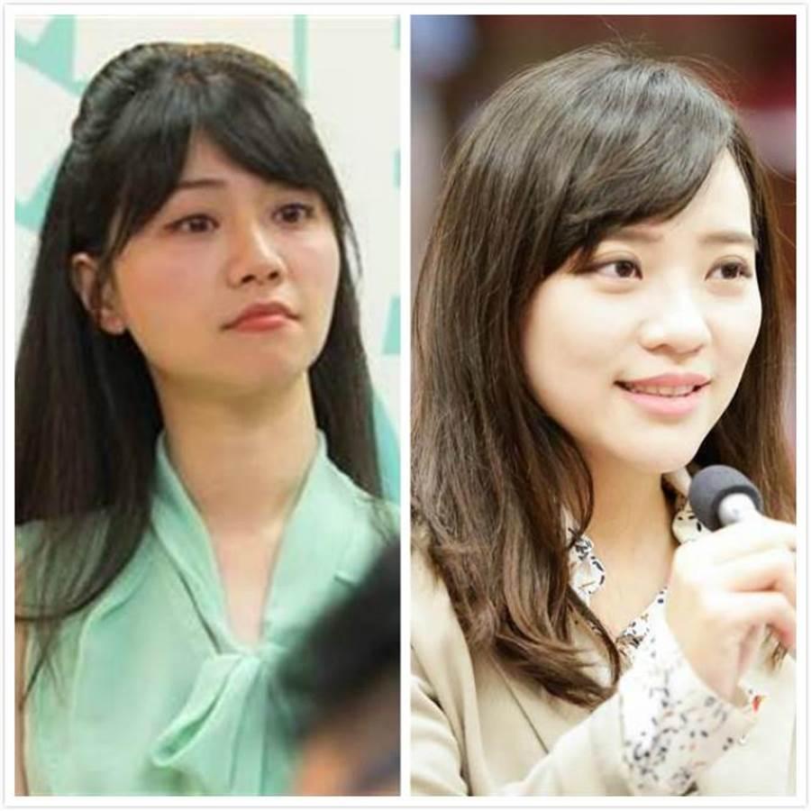 台北市議員高嘉瑜(右)、高雄市議員黃捷(左)。(資料照片/中時)