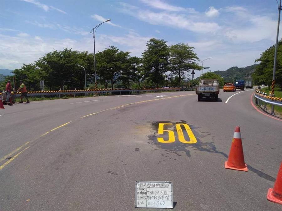 在民代力爭下,交通局及水利局同意比照重新堤外便道標準,將新鶯堤外便道速限提升為50公里。(陳俊雄翻攝)