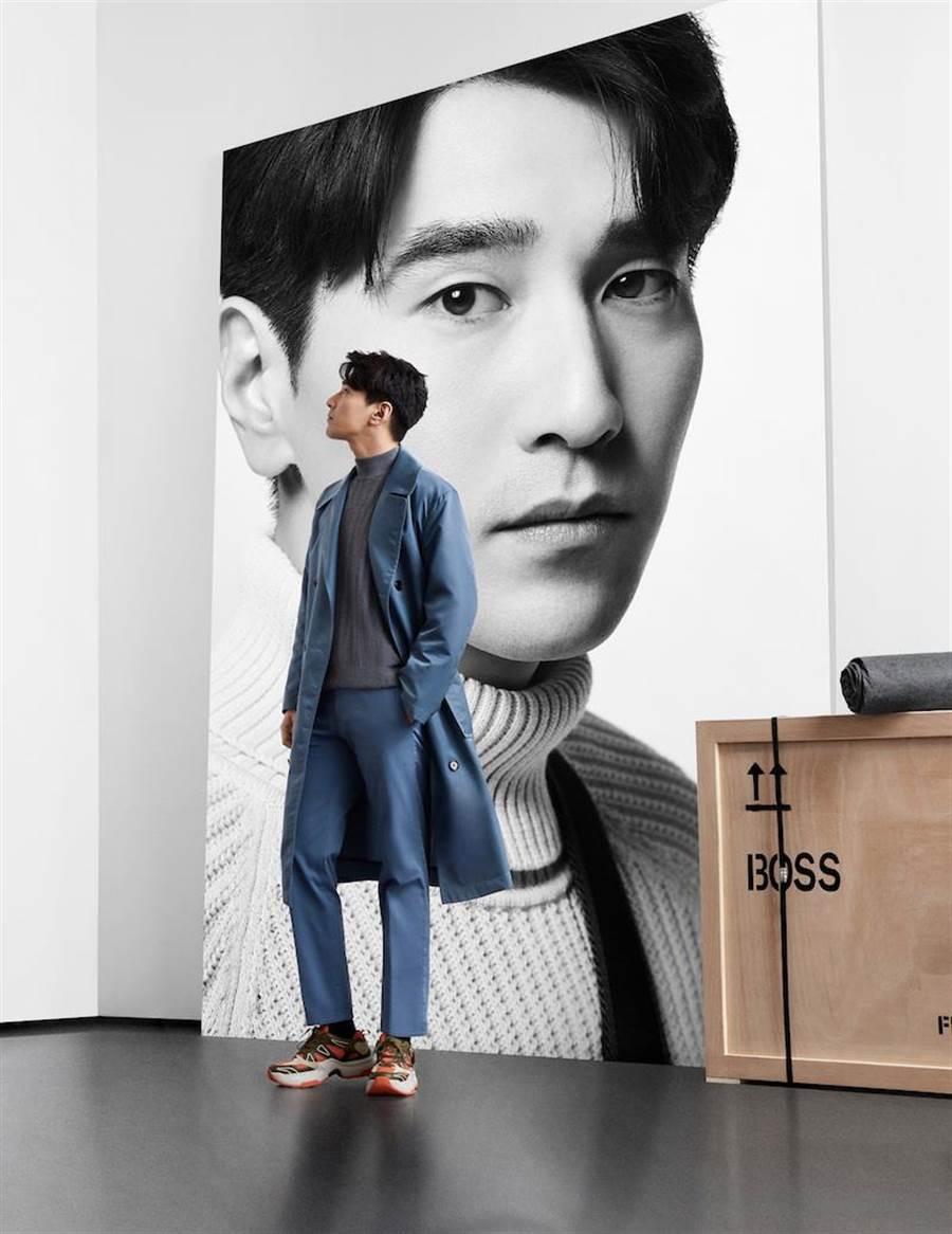 趙又廷演繹BOSS 2019秋冬廣告。(BOSS提供)