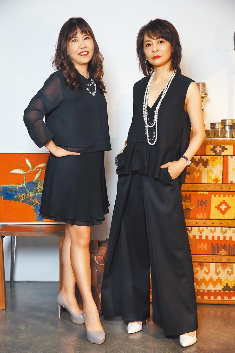 柴智屏(右)邀張正芬擔任總經理,一起為台灣影視產業努力。
