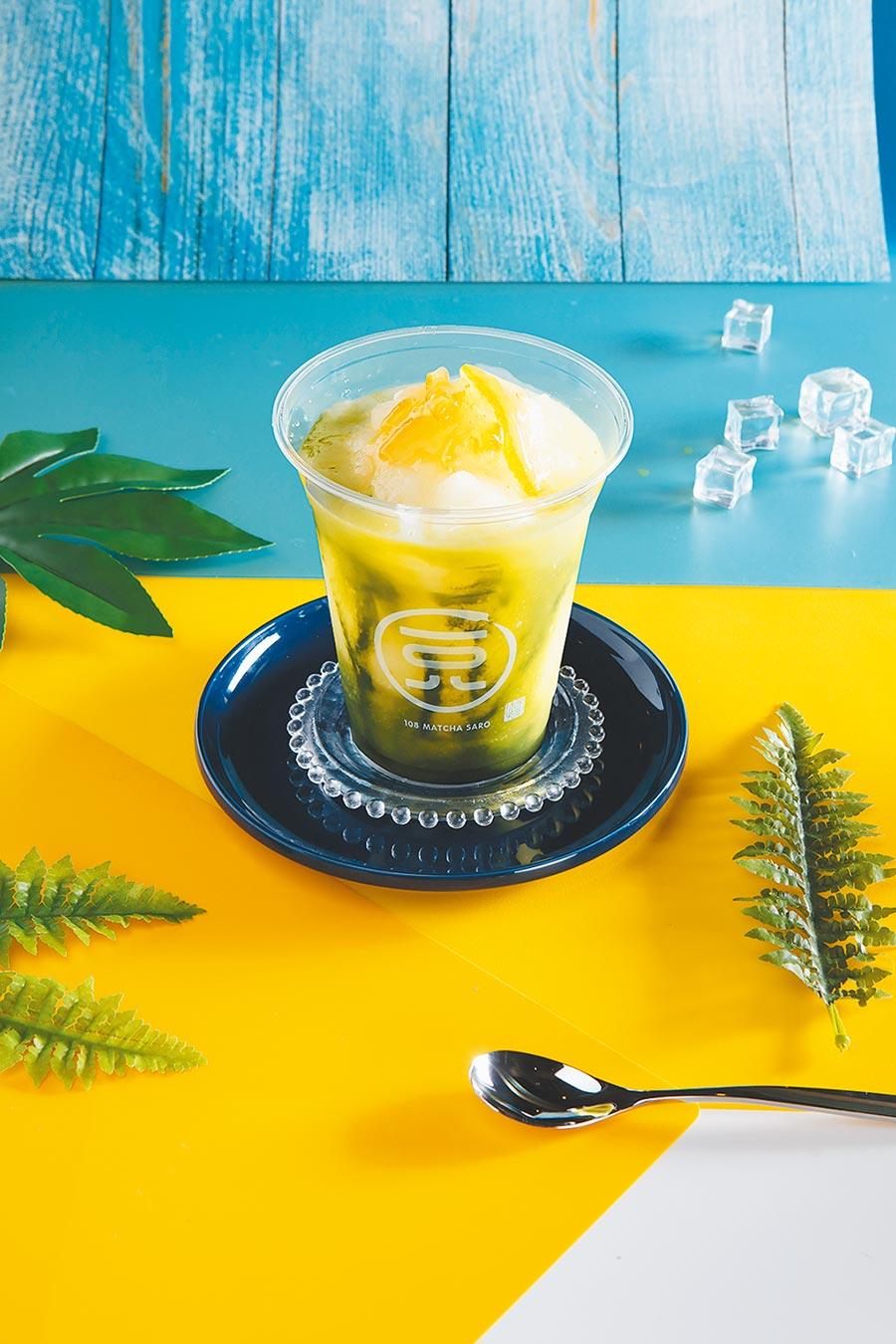 京站的日本抹茶甜品專門店「一○八抹茶茶廊」,今夏推出柚子抹茶冰沙,108元。(京站提供)