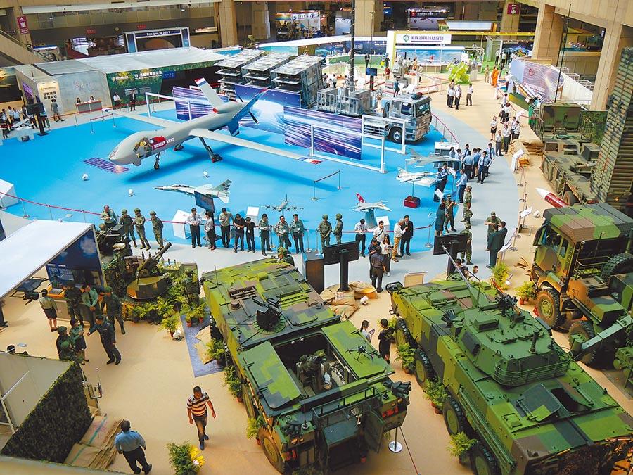 2019年台北國際航太暨國防工業展於8月15至17日舉行。(記者張國威攝)