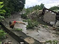 名間鄉土石崩落 疏散20戶80人