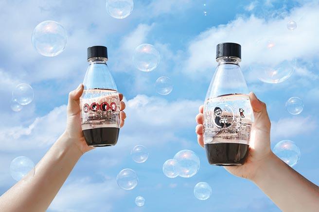 sodastream氣泡水機與Duncan連續3年推出限量專用水瓶,讓喝氣泡水有完全不同的繽紛體驗。圖/業者提供
