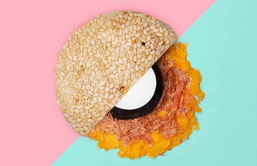 翻玩台灣新味的創意月餅_麻吉餅。(圖取自台南老爺行旅官網)