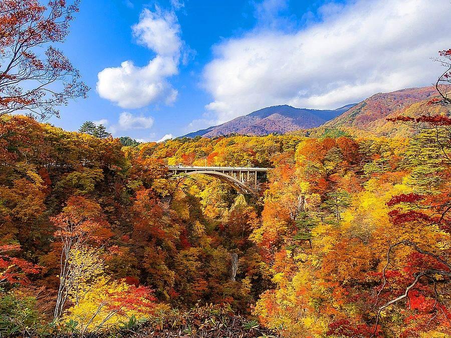 鳴子峽為日本東北著名的賞楓景點