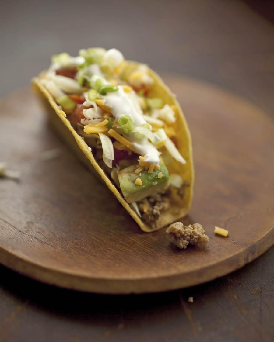 墨西哥夾餅,也稱塔可。(美聯社資料照)