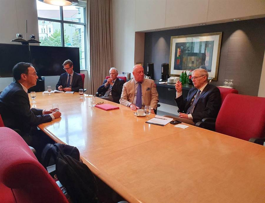 前新北市長朱立倫於美國時間15日展開華府拜會行程。圖:朱立倫辦公室提供